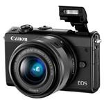 Câmera Dslr Canon Eos M100 24.2mp 3.0 Wi-Fi-nfc-bluetooth + Kit Ef-m15-45 Is St