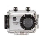 Câmera Filmadora de Ação Full Hd Vivitar Dvr786hd com Controle Caixa Estanque e Acessórios Prata