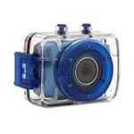 Câmera Filmadora Vivitar de Ação Hd Action Dvr785hd com Caixa Estanque e Acessórios Azul