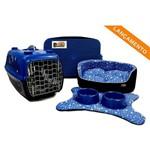 Caminha Pet Kit Dubai 06 Pçs Patinhas Azul -P Cama para Gato Cachorro Porte Pequeno Binnopet