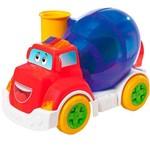 Caminhão Pedagógico Calesita Musical Mix Ball - 5 Acessórios - Vermelho/roxo/branco