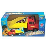 Caminhão Super Guincho Vermelho e Azul - Líder