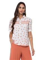 Camisa Acetinada Botões