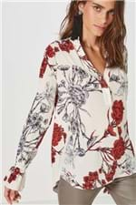 Camisa Agatha Estampado 1 Est Flor Grimaldi Areia - 42
