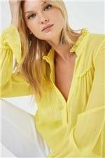 Camisa Agatha Ggt Lisa Amarelo Seed - 38