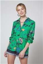 Camisa Amarração Est Blue Leaf Est Blue Leaf Verde - PP