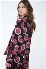 Camisa Amarração Pois Batik Rosa Est Pois Batik Preto e Rosa - 36