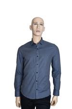Camisa Aramis Super Slim Filete Xadrez Azul Tam. P