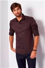 Camisa Aramis Super Slim Jacquard Café Tam. G