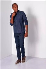 Camisa Aramis Super Slim Menswear Traços Azul Tam. G