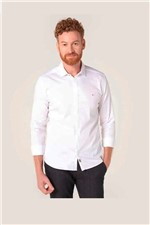 Camisa Aramis Super Slim Night Cetim Stretch Branco Tam. P