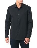 Camisa Básica Regular Calvin Klein Cannes de Algodão Preto - 1
