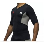 Camisa Bike de Compressão DX3 X-Pro IRONMAN - Masculino - Preto / Cinza