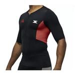 Camisa Bike de Compressão DX3 X-Pro IRONMAN - Masculino - Preto / Vermelho