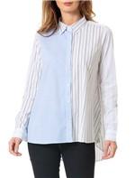 Camisa Calvin Klein Listrada Exclusiva Azul Claro - 38