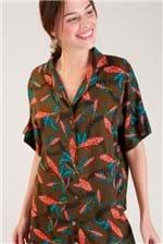 Camisa Cantão Gola Estampa Simpatia - Verde
