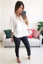 Camisa Colcci com Botões - Off White