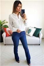 Camisa Colcci Manga Longa com Bolso Frontal - Off White