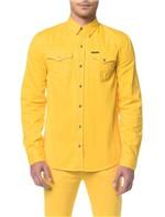 Camisa Color Manga Longa - Amarelo Ouro - P