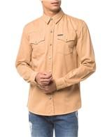 Camisa Color Manga Longa - Caqui Claro - P