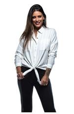 Camisa com Bolso Frontal-off White - M