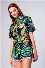 Camisa com Estampa Floral Unissex