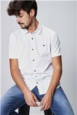 Camisa com Estampa Minimalista Masculina
