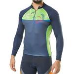 Camisa Compreensao Elite Azul/Verde Bike 125699 GG