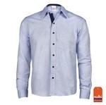 Camisa Cotton Blue Masculina Manga Longa Tamanho 1