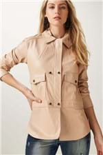 Camisa Couro Duo Nude - 38