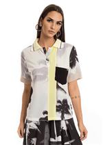 Camisa Crepe Manga Curta