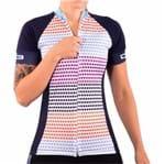 Camisa de Ciclismo Montop DX3 - Feminina - Azul Marinho
