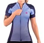 Camisa de Ciclismo Montop DX3 - Feminina - Marinho