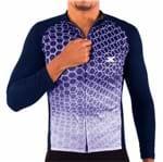 Camisa de Ciclismo Montop Manga Longa DX3 - Masculina - Marinho
