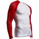 Camisa de Compressão On Off Branca LS MultiSport -XS - Compressport