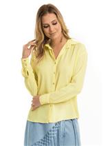 Camisa de Crepe Básica - Amarelo P