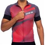 Camisa Dx-3 Masc. Cycle 4 - Chumbo/vermelho