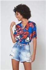 Camisa Est Sun Flower Est Sun Flower Azul - PP