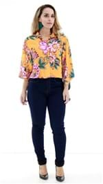 Camisa Farm Amplo Laranja Floral OI9 271741