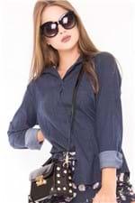 Camisa Feminina Jeans Listrada CA0061 - Kam Bess