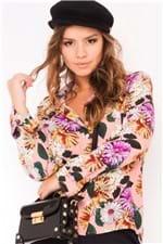 Camisa Feminina Manga Longa Estampa Floral CA0232 - Kam Bess