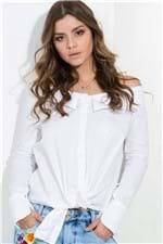 Camisa Feminina Ombro a Ombro Oversized CA0220 - Kam Bess