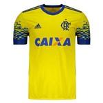 Camisa Flamengo Adidas Amarela III 2017 2018 - CD9621