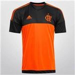 Camisa Flamengo Adidas Goleiro Laranja e Preta 2015