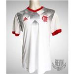 Camisa Flamengo Adidas Pré-Jogo 2017 2018 Branca