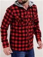 Camisa Flanela Manga Longa Masculina Gangster Vermelho