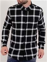 Camisa Flanela Manga Longa Masculina Preto/branco