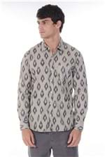 Camisa Indian Ikat Caqui G