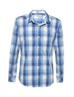 Camisa Infantil Calvin Klein Jeans Xadrez Recorte e Logo Azul Marinho - 4