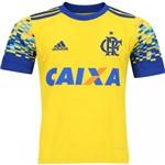 Camisa Infantil Juvenil Flamengo Adidas Amarela III 2017 2018 - BK7123